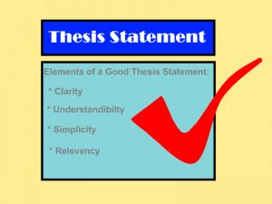 Thesis Statement Examples - YourDictionary